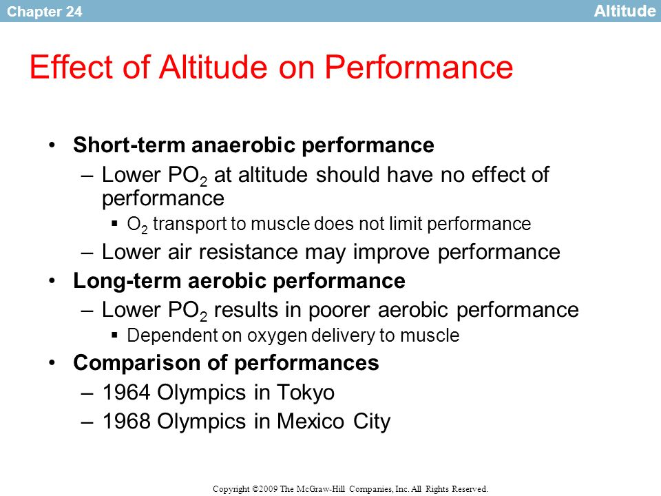 Effect of Altitude on Performance