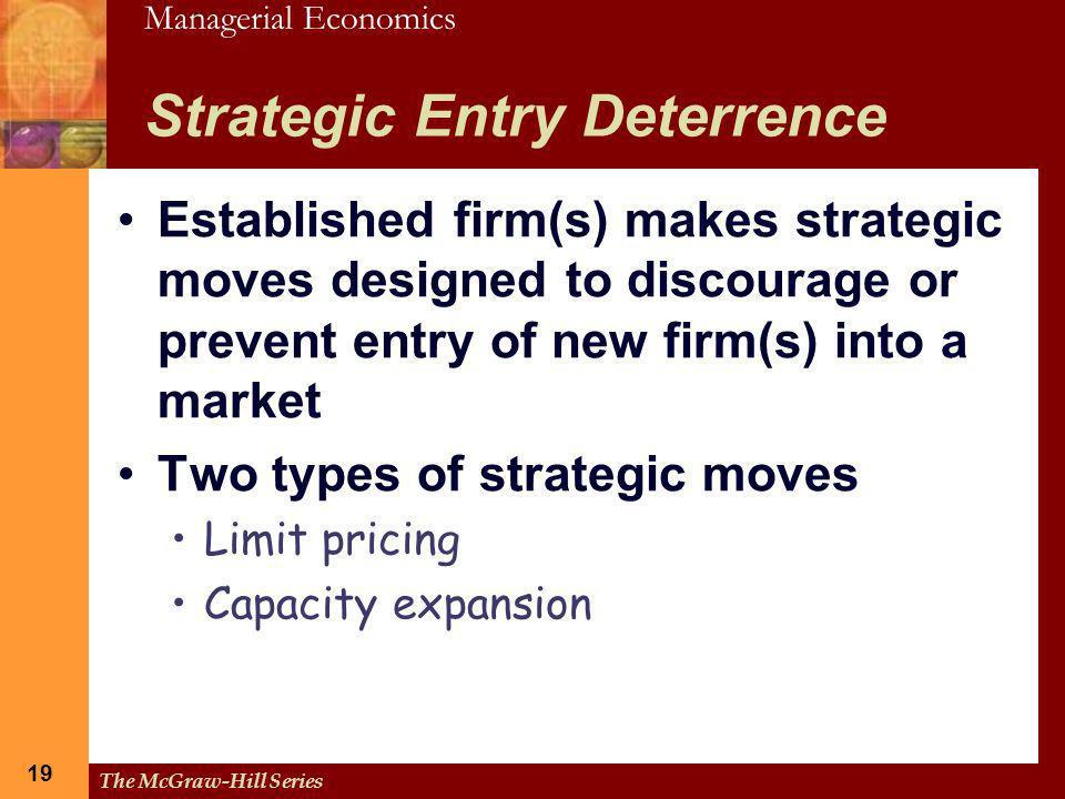 Strategic Entry Deterrence