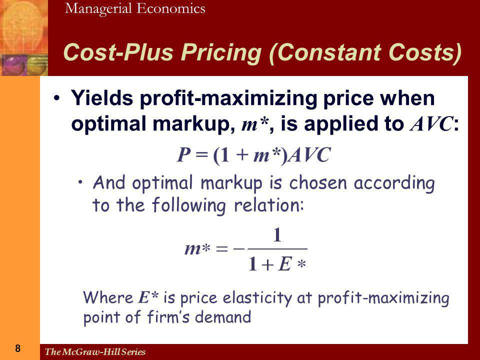 Cost-Plus Pricing (Constant Costs)