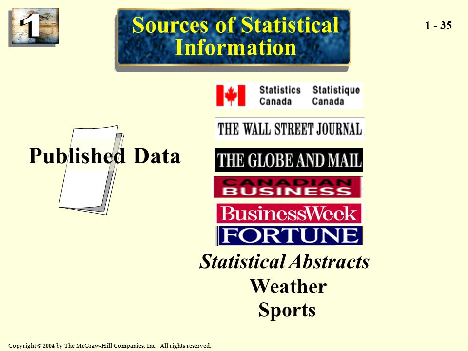 Sources of Statistical Information