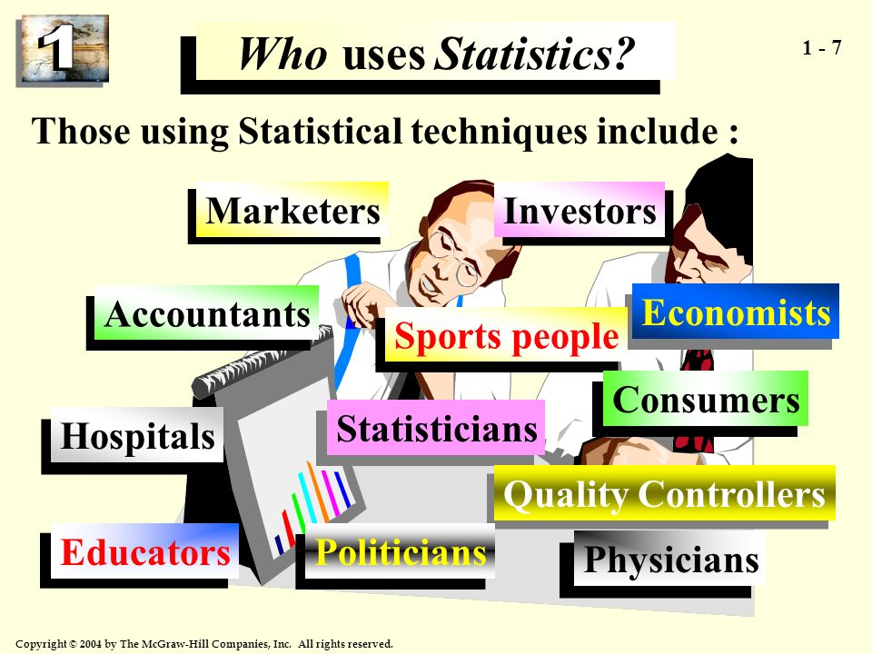 Who uses Statistics Those using Statistical techniques include :