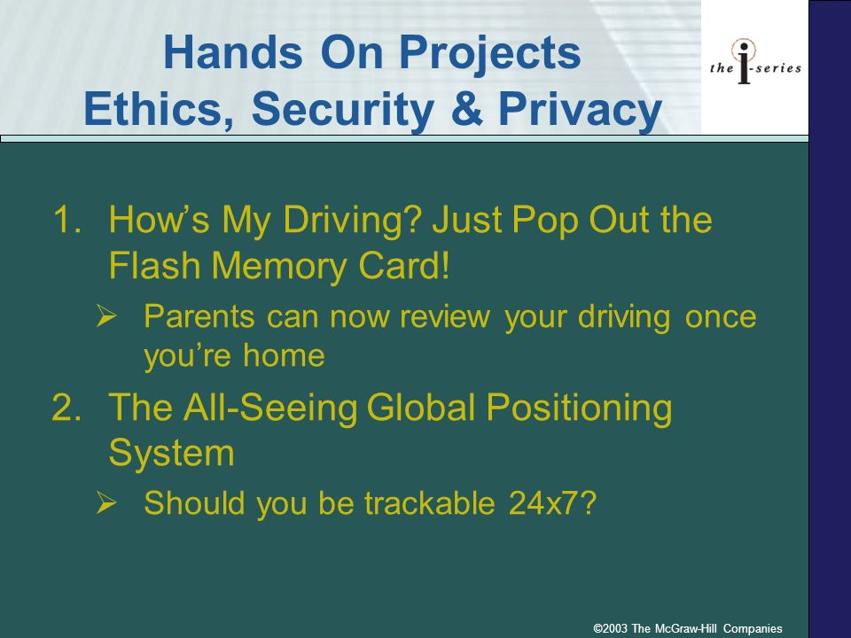 Hands On Projects Ethics, Security & Privacy