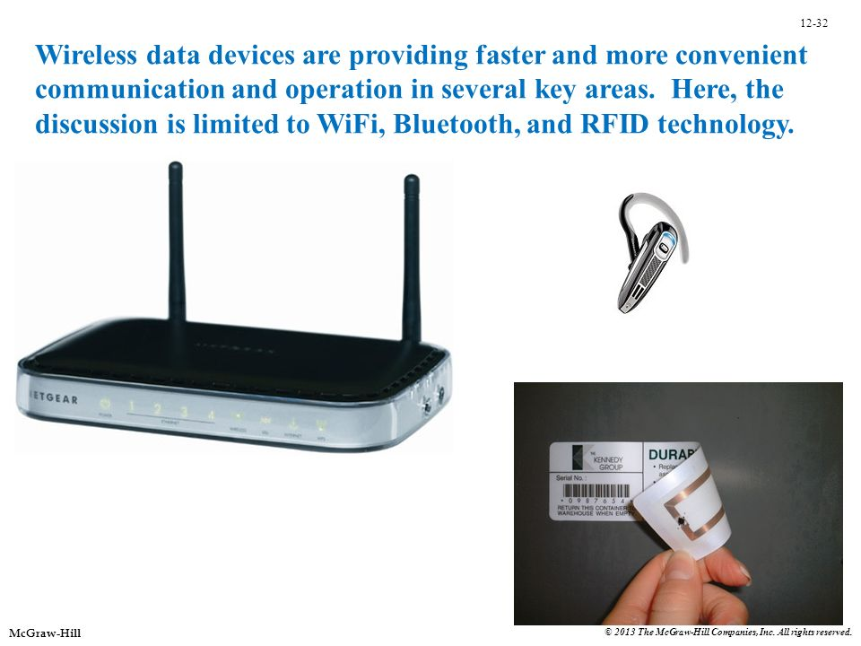 Wireless data devices are providing faster and more convenient communication and operation in several key areas. Here, the discussion is limited to WiFi, Bluetooth, and RFID technology.