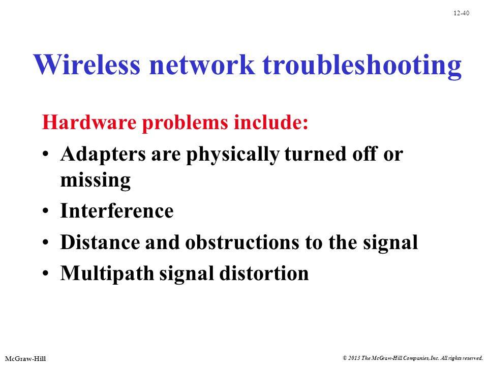 Wireless network troubleshooting