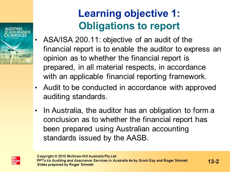 Learning objective 1: Obligations to report