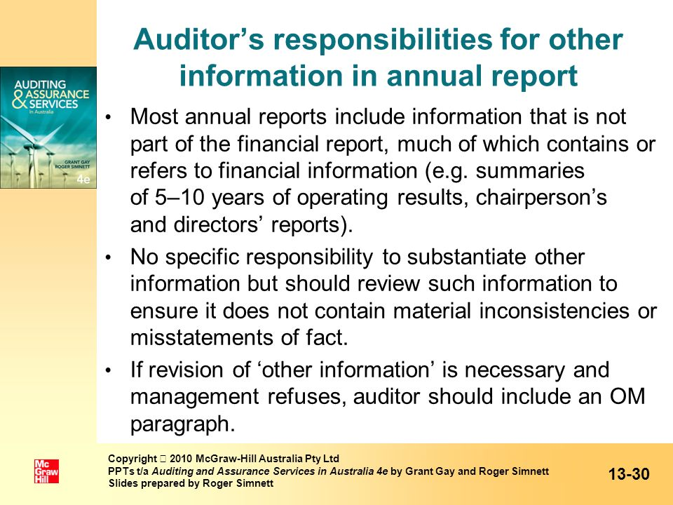 Auditor's responsibilities for other information in annual report