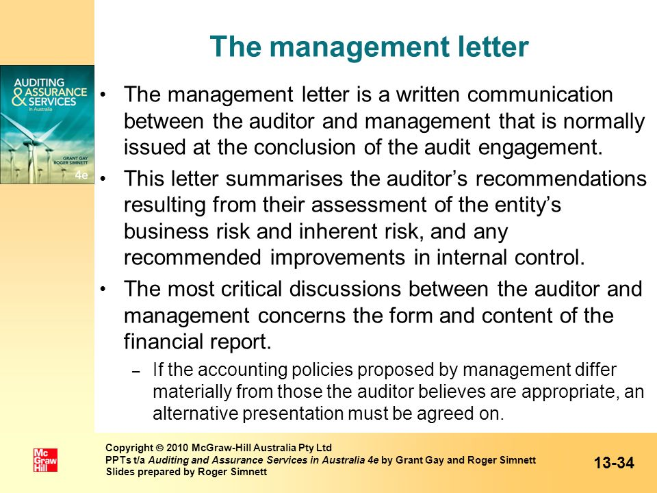 The management letter