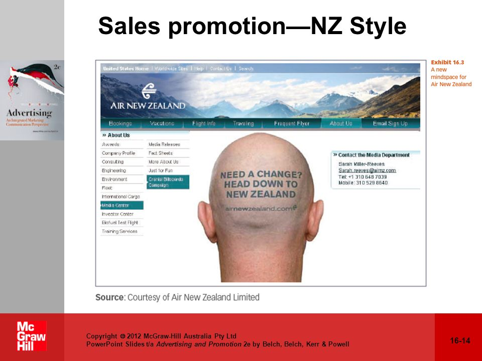 Sales promotion—NZ Style
