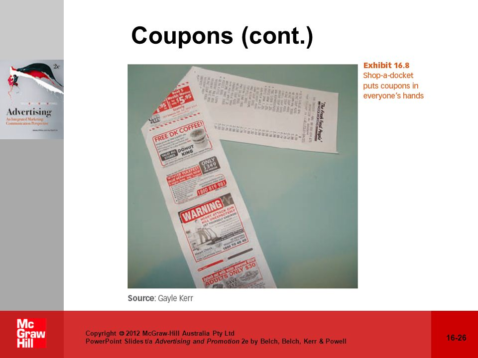 Coupons (cont.) Relation to text