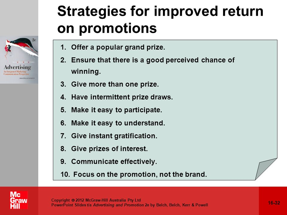 Strategies for improved return on promotions