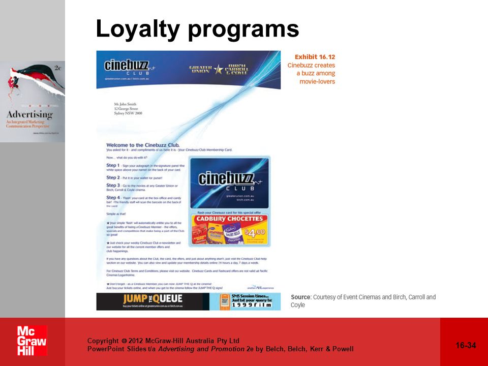 Loyalty programs Relation to text