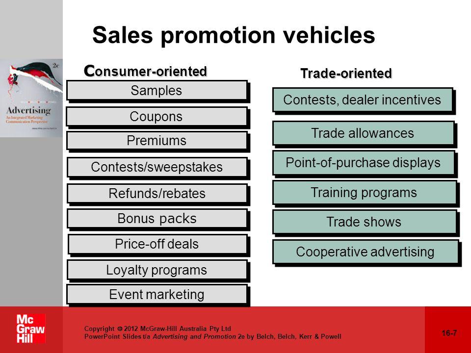 Sales promotion vehicles