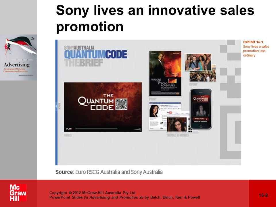 Sony lives an innovative sales promotion