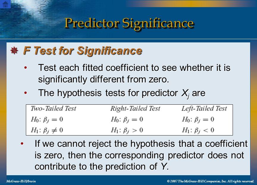 Predictor Significance