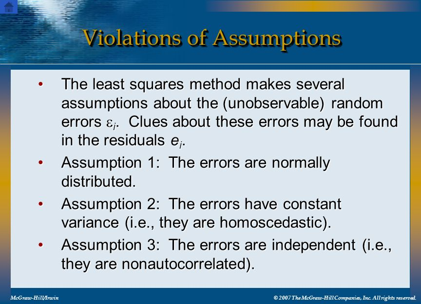 Violations of Assumptions