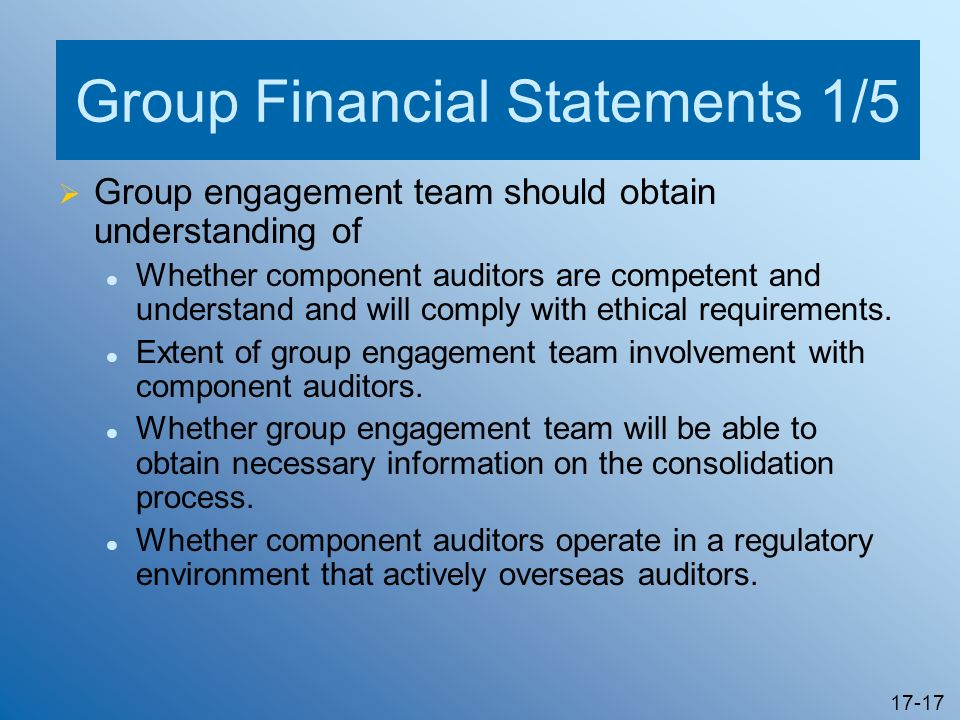 Group Financial Statements 1/5