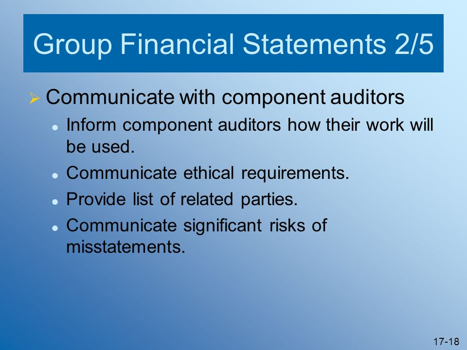 Group Financial Statements 2/5
