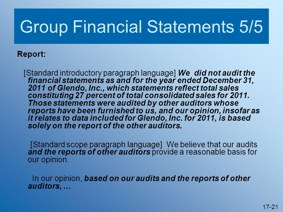 Group Financial Statements 5/5