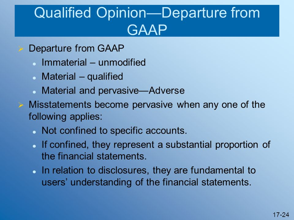 Qualified Opinion—Departure from GAAP
