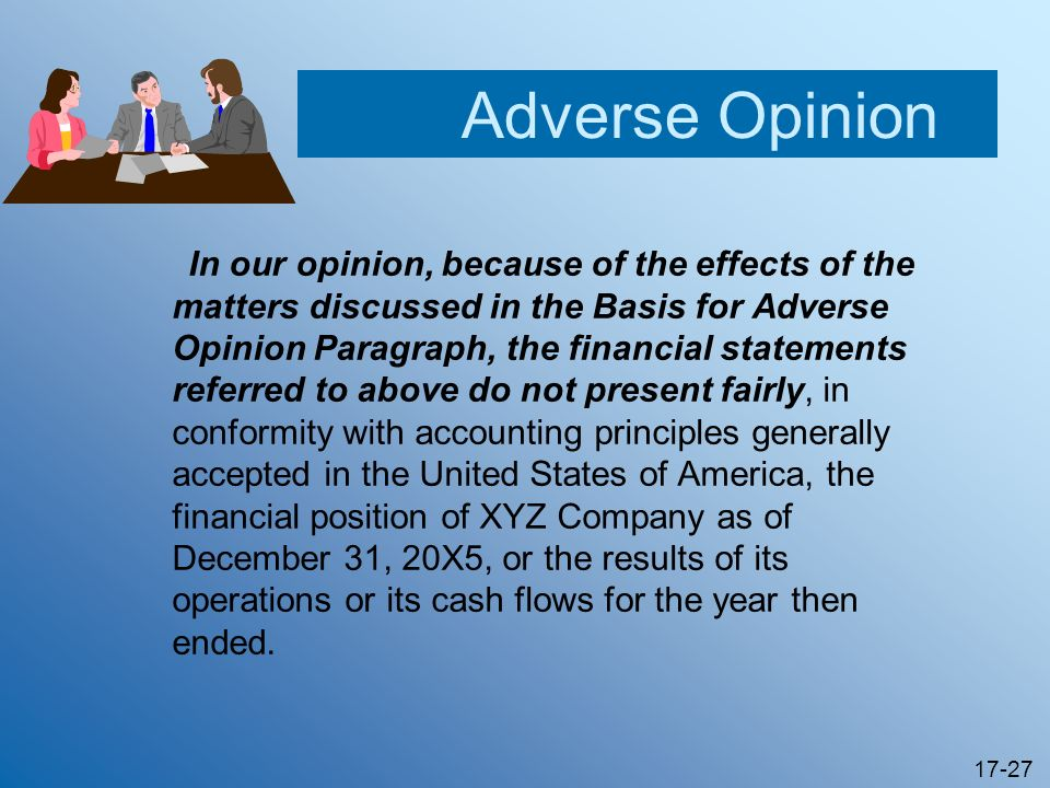 Adverse Opinion