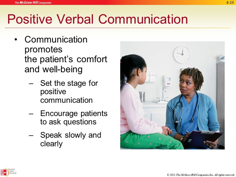 Positive Verbal Communication