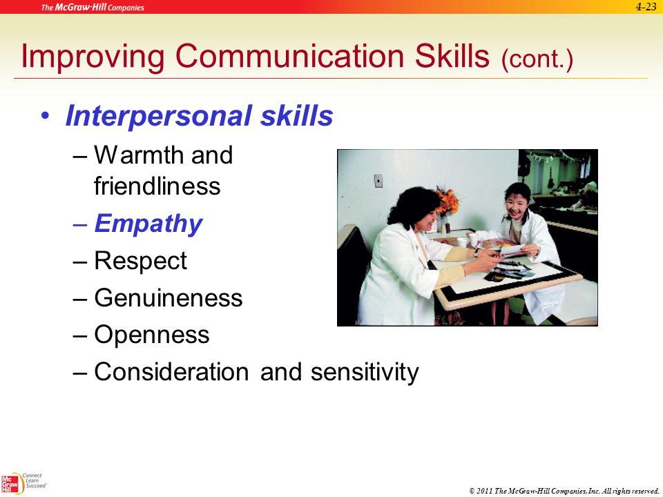 Improving Communication Skills (cont.)