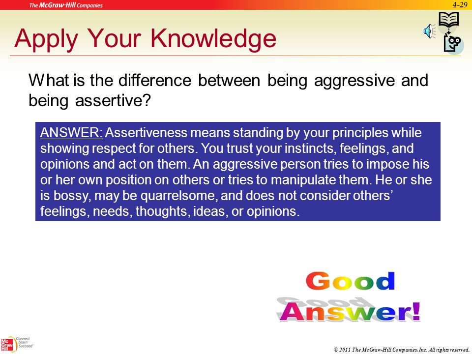 Apply Your Knowledge Good Answer!