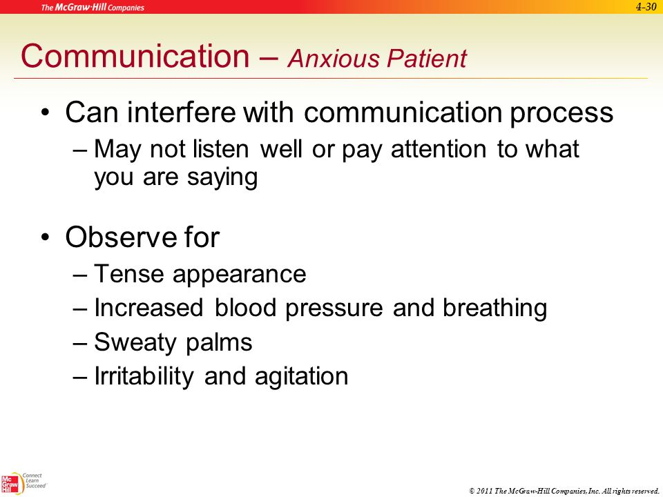 Communication – Anxious Patient