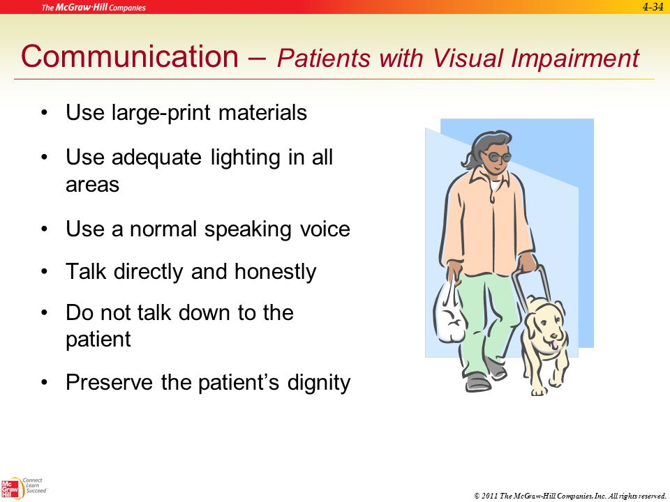 Communication – Patients with Visual Impairment
