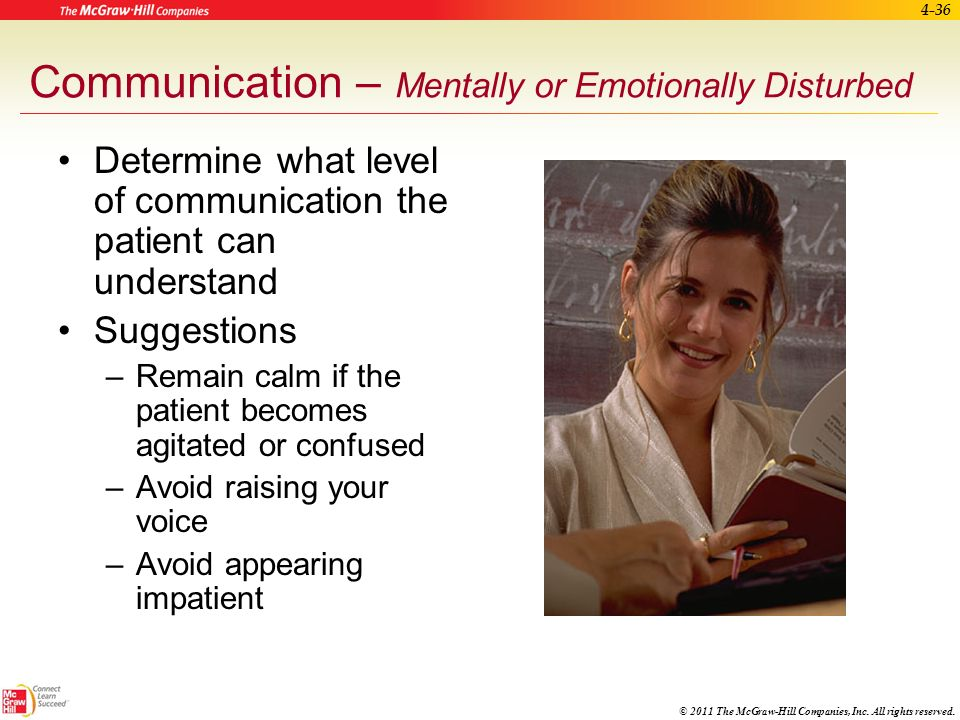 Communication – Mentally or Emotionally Disturbed