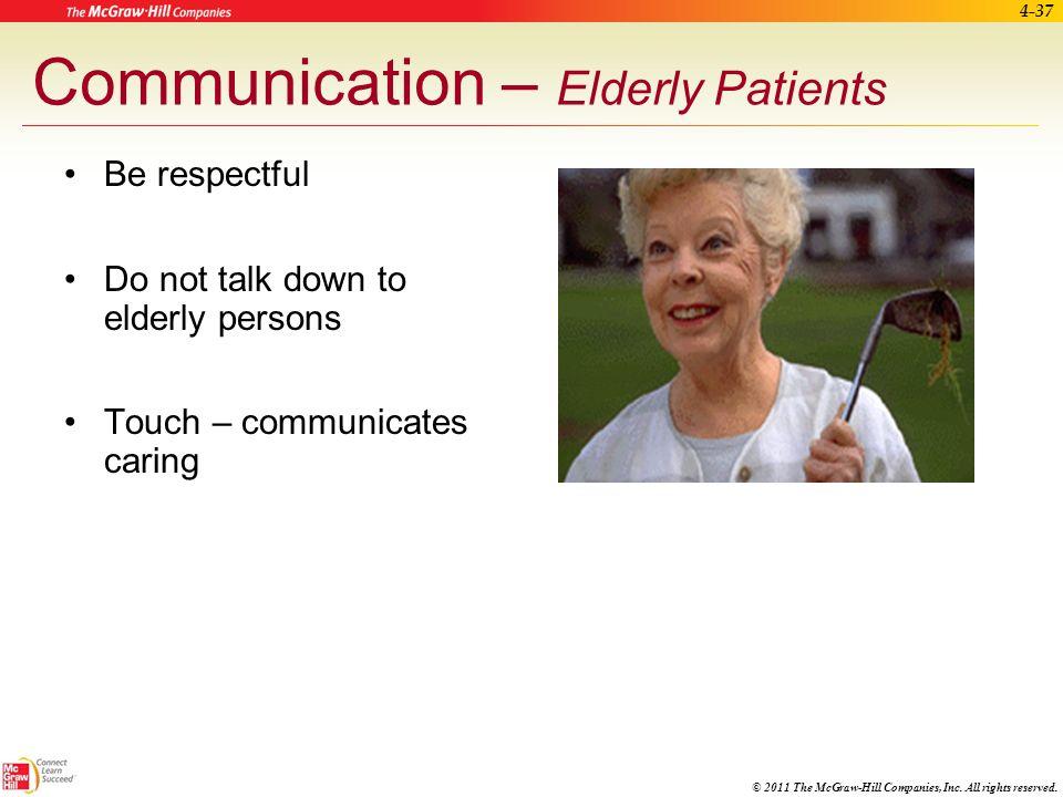 Communication – Elderly Patients