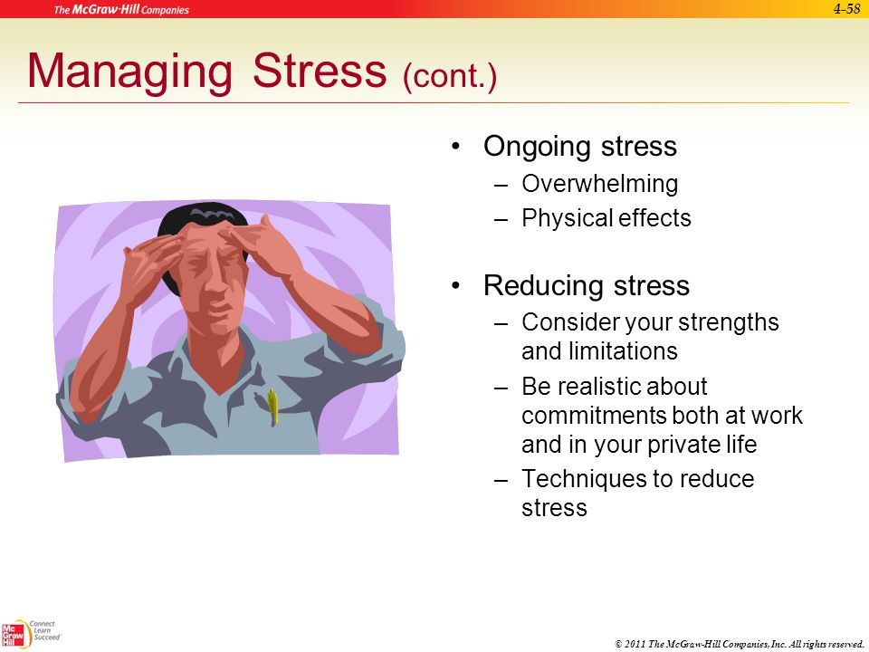 Managing Stress (cont.)