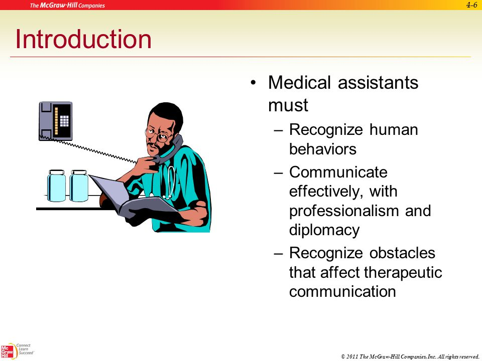 Introduction Medical assistants must Recognize human behaviors