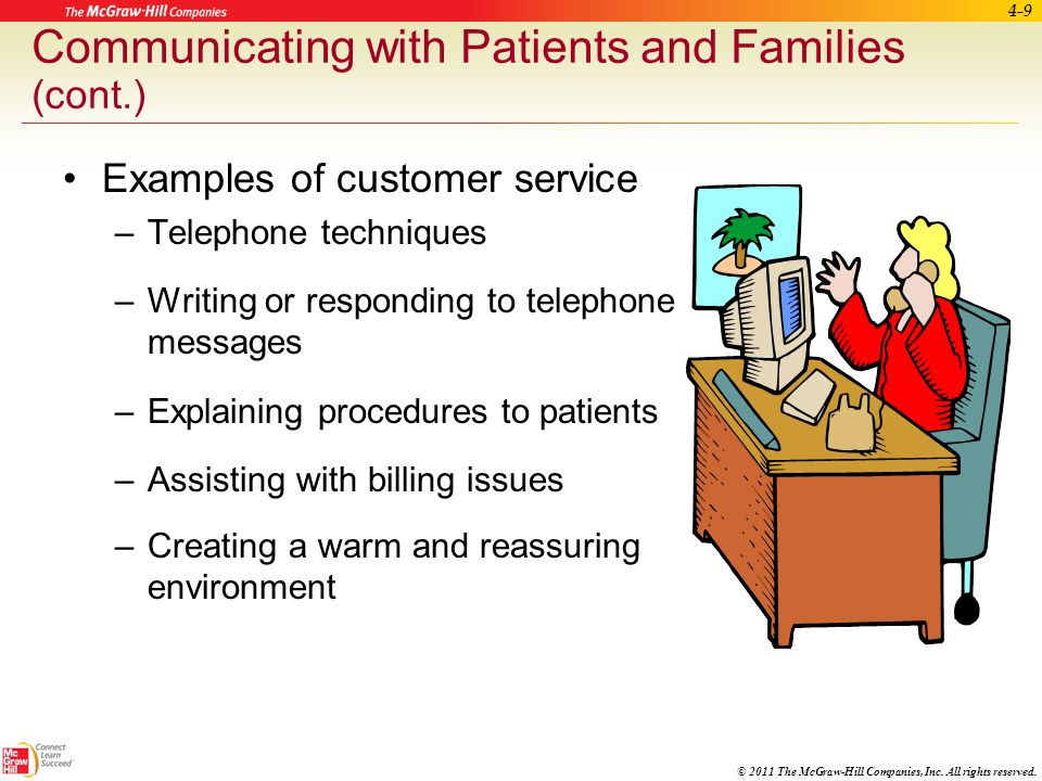 Communicating with Patients and Families (cont.)