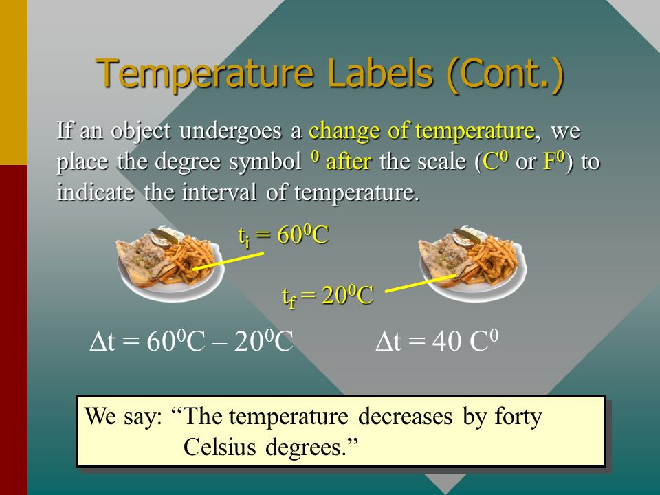 Temperature Labels (Cont.)
