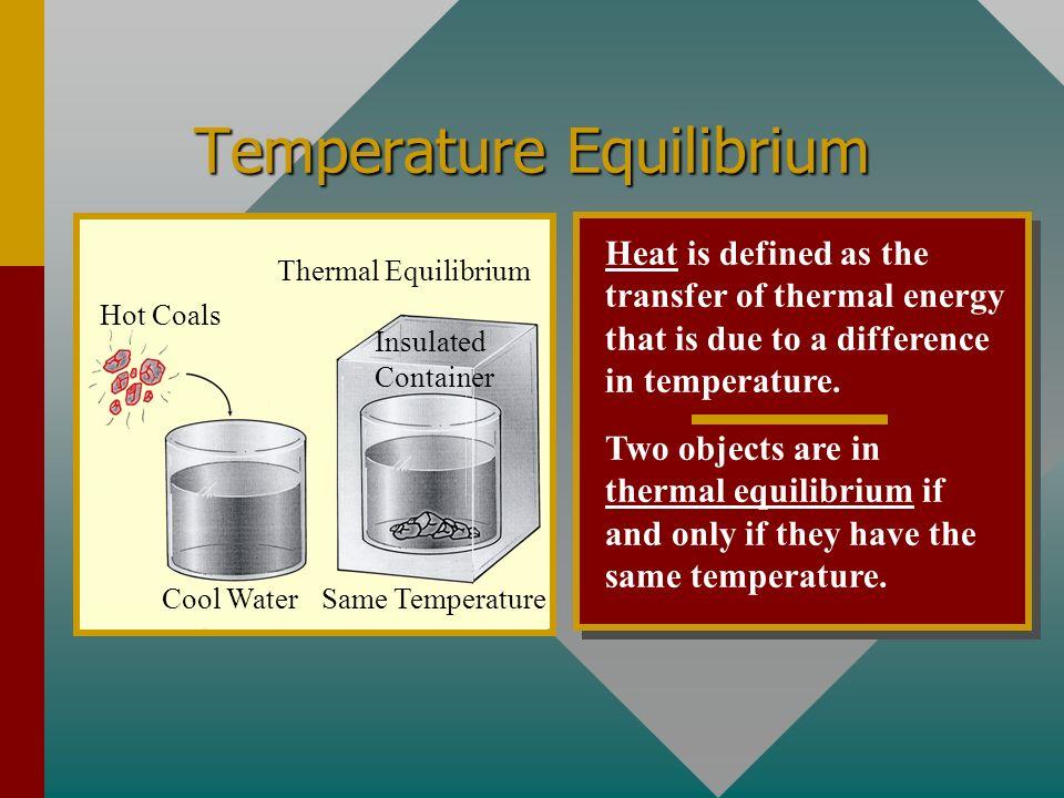 Temperature Equilibrium