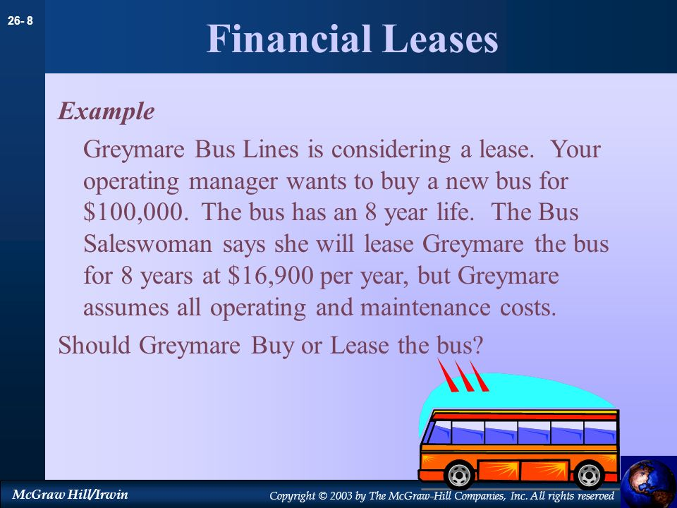 Financial Leases Example