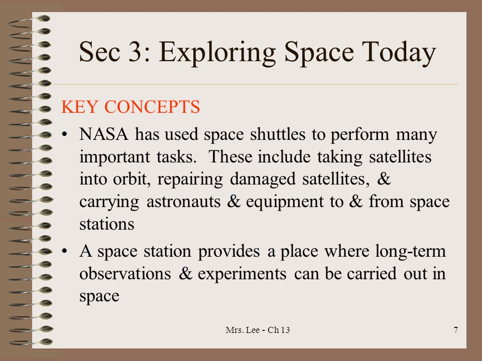 Sec 3: Exploring Space Today