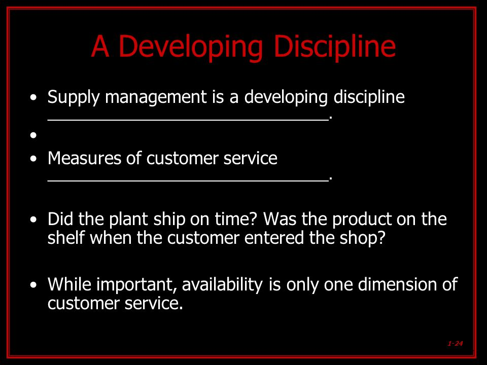 A Developing Discipline