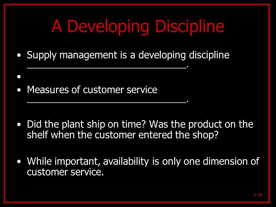 A Developing Discipline