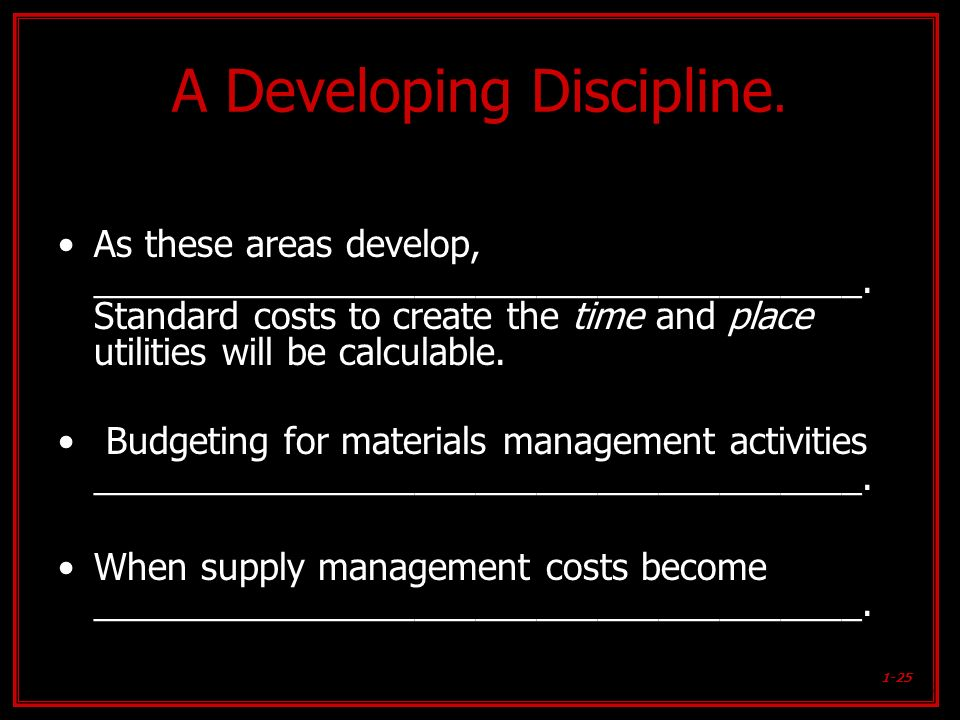 A Developing Discipline.