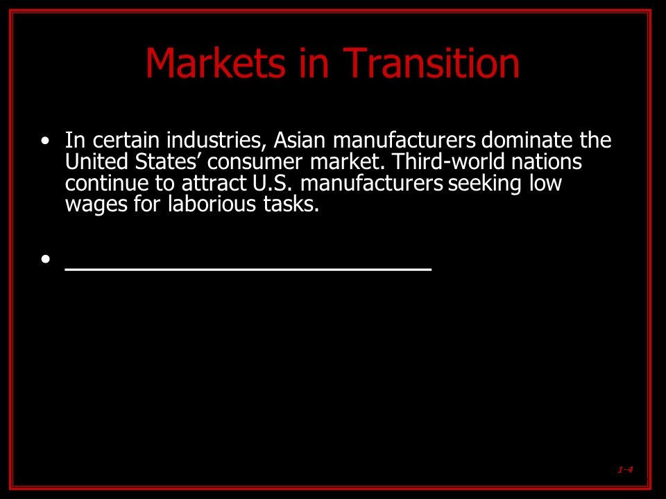 Markets in Transition ________________________