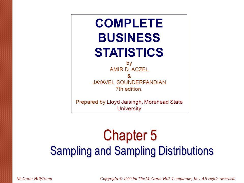 Chapter 5 Sampling and Sampling Distributions