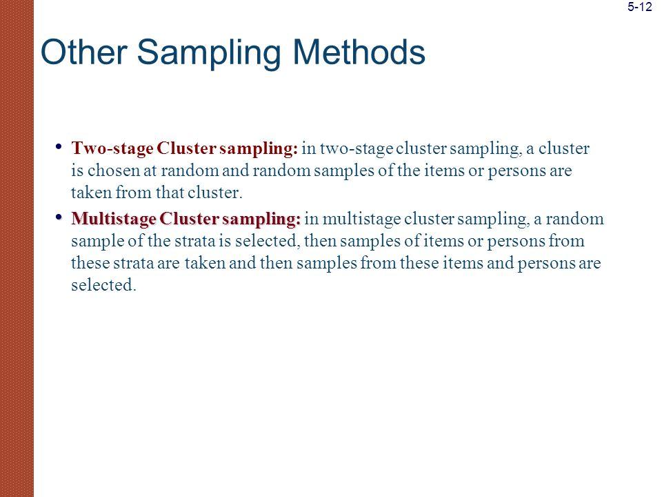 Other Sampling Methods