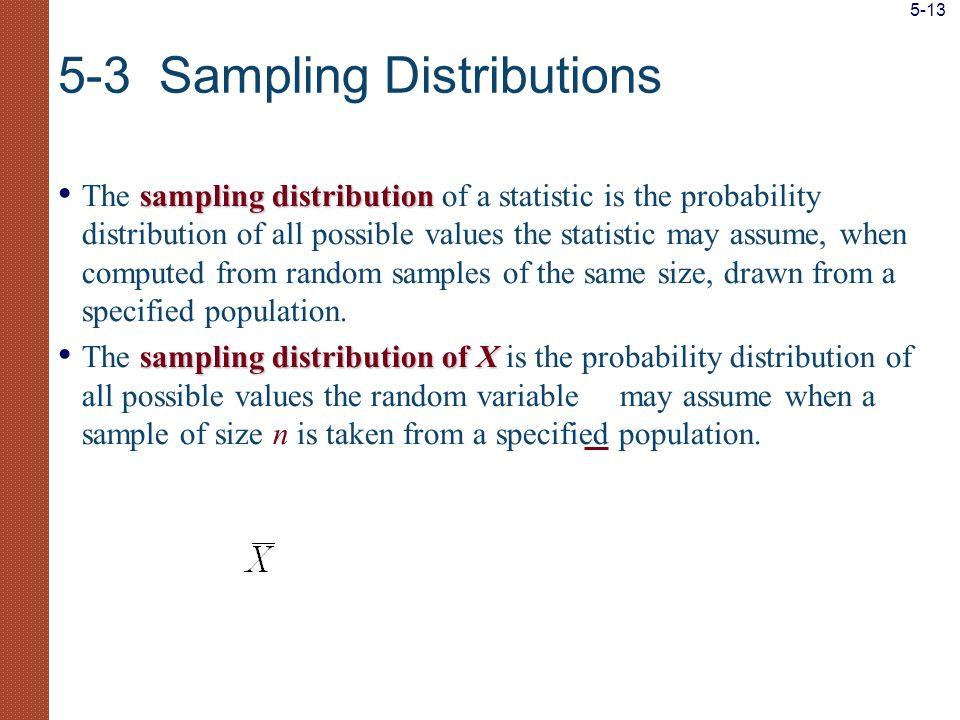 5-3 Sampling Distributions