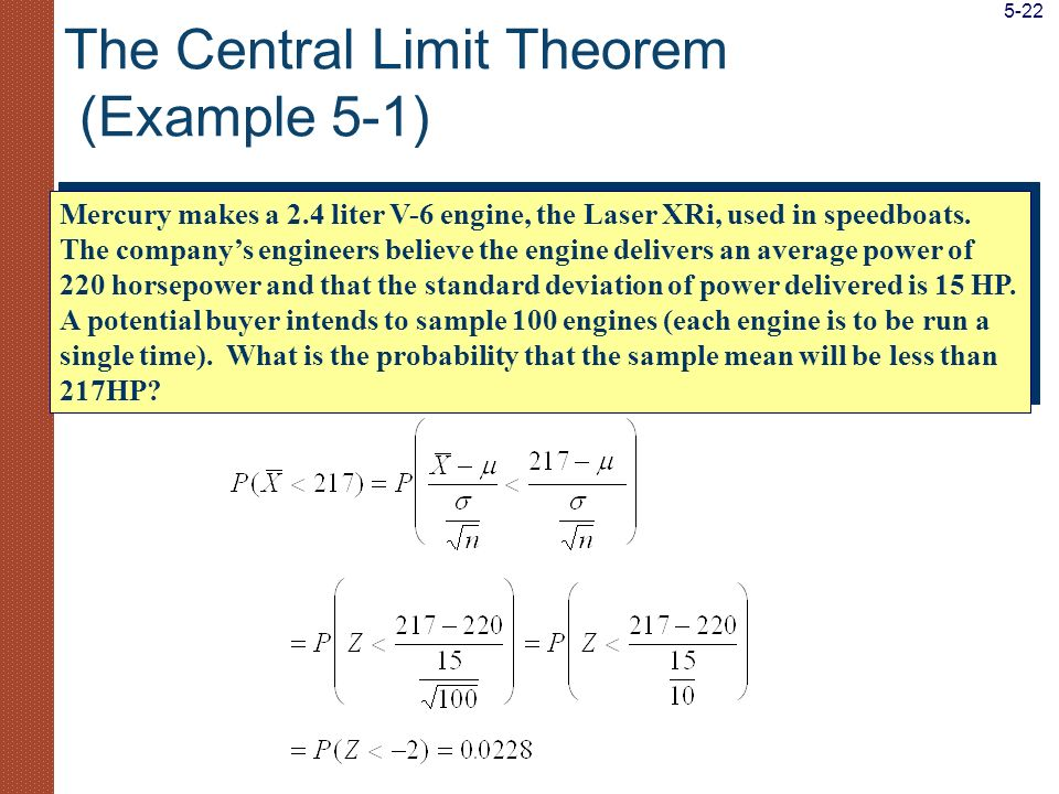 The Central Limit Theorem (Example 5-1)