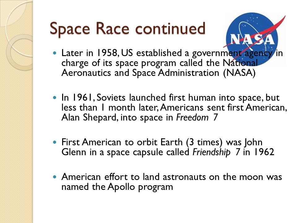 Space Race continued