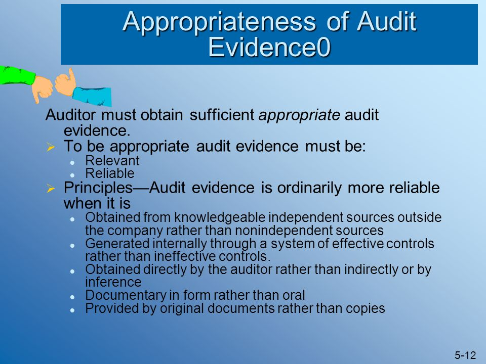 audit evidence mix