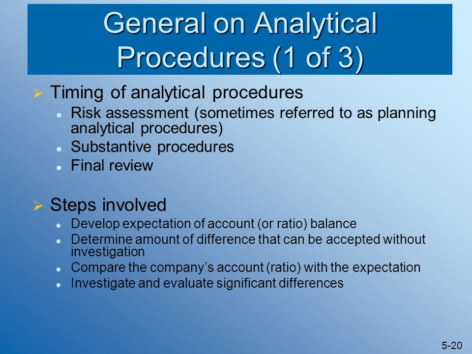 General on Analytical Procedures (1 of 3)