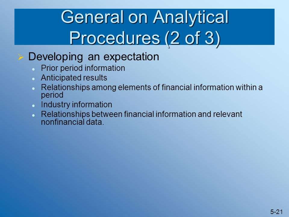 General on Analytical Procedures (2 of 3)